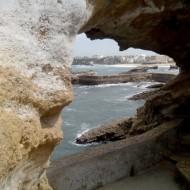 Du rocher de la vierge vue sur Biarritz