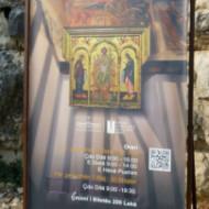 l'affiche du musée avec horaires et tarif