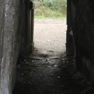 Vue depuis l'intérieur du dolmen