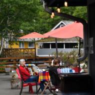 Aire de repos avec coffee shop