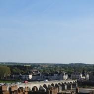 Vue des terrasses de Gien et son pont