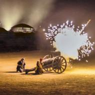 Photo extraite du spectacle Des flammes à la lumières. Le son et lumière de la Bataille de Verdun.