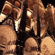la façade de nuit