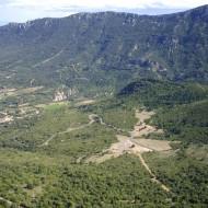 La vallée de Maury (vue d'en haut)