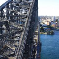 vue du pylône du pont