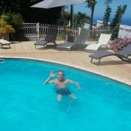 La super piscine, vue sur la mer, et chauffée quand il le faut....trop bien!!!!!