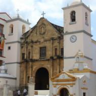 la porte baroque de l'église LA MERCED