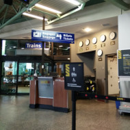 La gare de Quebec ... dépôt bagage ... entrée sur le quai.