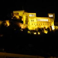 chateau de Leiria vu de nuit