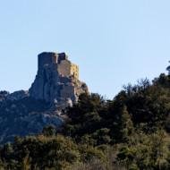 château de Quéribus - entrée