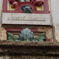 la signature de l'architecte André Gabelle au dos  de l'édifice