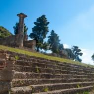 Nymphaion d'Hérode Attikos, Site archéologique d'Olympie,  classé en 1989 - Patrimoine mondial de l'UNESCO