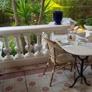 Le coin terrasse petit déjeuner