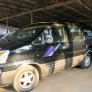 Le minibus, le véhicule le plus utilisé de notre parcours