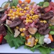 Foies de volaille de Bresse en salade