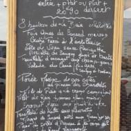 menu avec choix et originalités