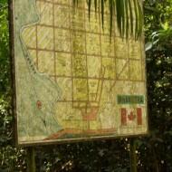 Affiche Expliquant les zones du boisé à l'accueil