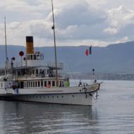 Le Savoie dernier bateau à roues à aubes de 1914 sur le Léman