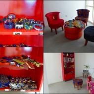 La fondation à une boutique d'article produit au Bénin.
