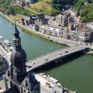 Vue sur la Meuse et le pont CdG